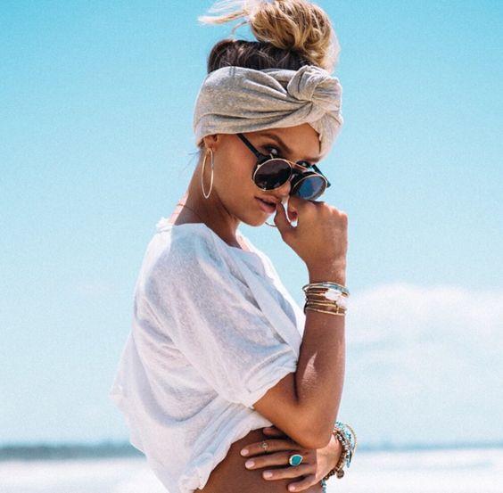 coiffure de plage turban