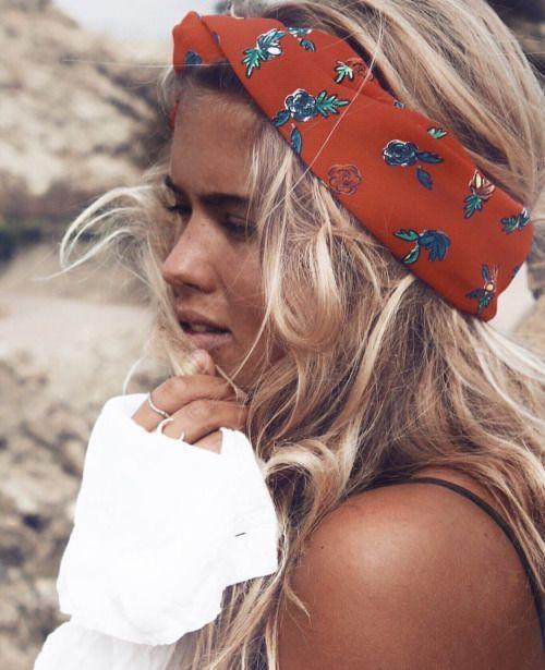 coiffure de plage headband